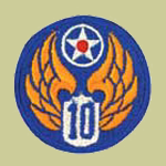 10th Army Air Forces WW2 Patch